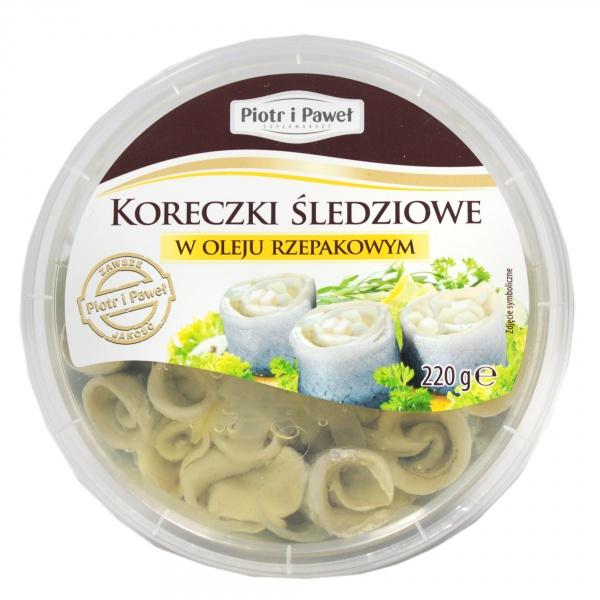 Koreczki śledziowe z olejem Piotr i Paweł
