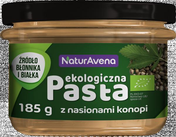 Ekologiczna pasta z nasionami konopi