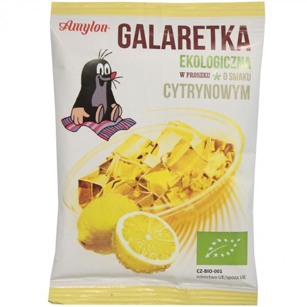 Galaretka o smaku cytrynowym bio amylon