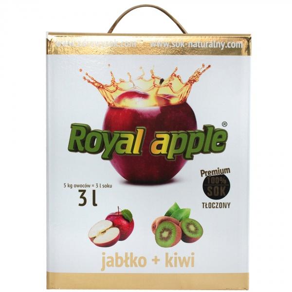 Sok jabłkowo-kiwi Royal Apple bezpośrednio tłoczony 3L