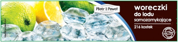 Samozamykające woreczki na kostki do lodu Piotr i Paweł