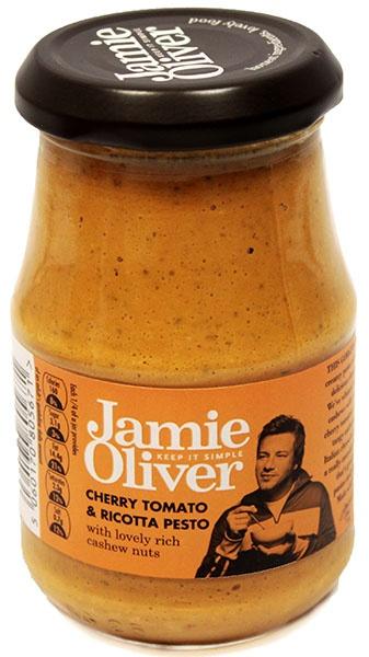 Pesto z pomidorami cherry i serem ricotta Jamie Oliver