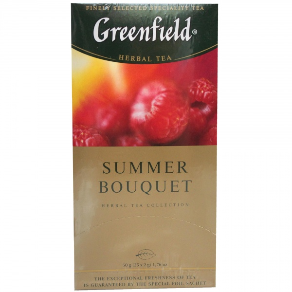Herbata greenfield ziołowo-owocowa summer bouquet.