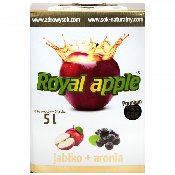 Sok jabłko-aronia Royal Apple bezpośrednio tłoczony 5L