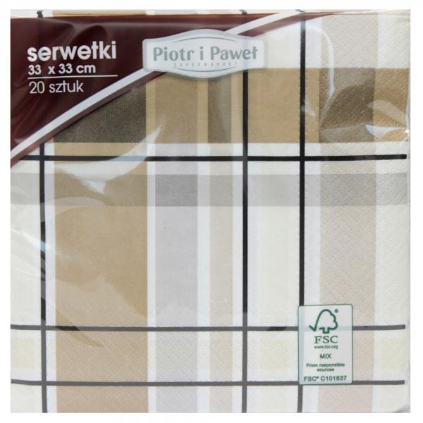 Serwetki lunch 33*33cm Little Check 20szt