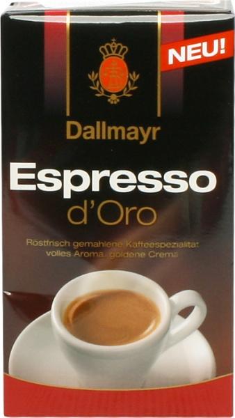 Kawa Dallmayr Espresso d'Oro mielona
