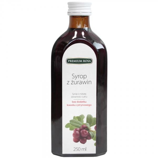 Syrop premium rosa z żurawiny