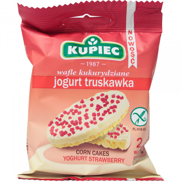 Wafle Kupiec kukurydziane jogurt truskawka