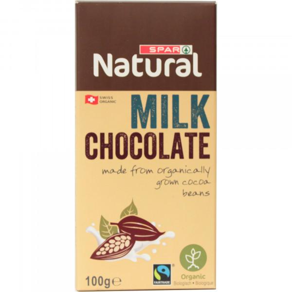 Spar ekologiczna czekolada mleczna
