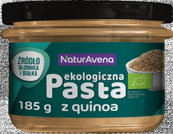 Pasta quinoa z ciecierzyca i suszonymi pomidorami bio