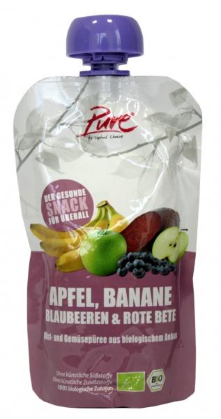Ekologiczny Mus jabłko,banan,jagoda,burak