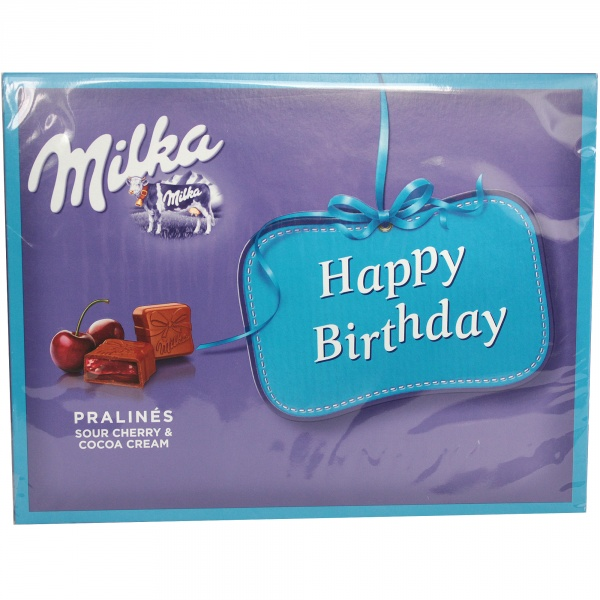 Bombonierka milka happy birthday