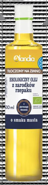 Eko olej rzepakowy o smaku masła- złoto polskie