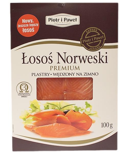 Łosoś plastry premium Piotr i Paweł