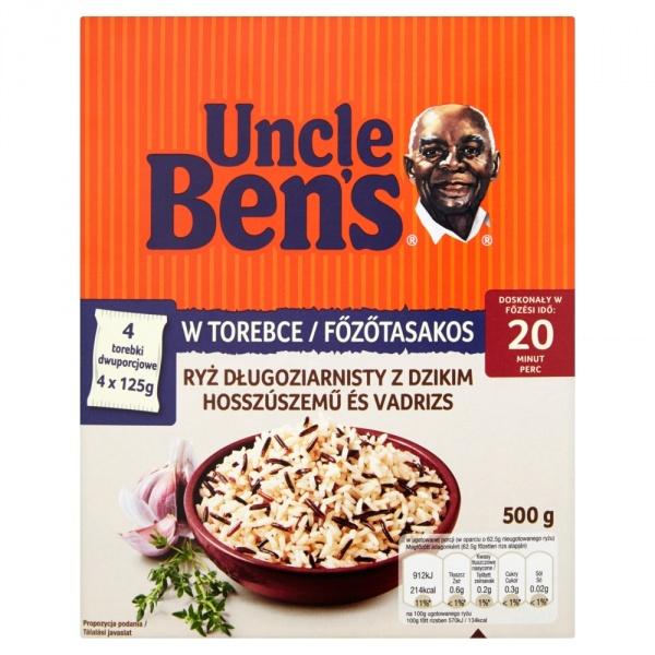 Ryż Uncle Bens długoziarnisty z dzikim