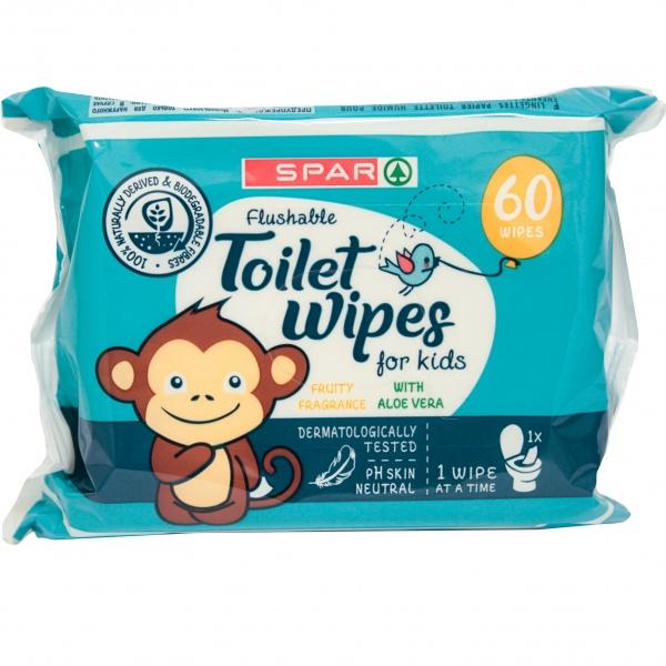 Spar nawilżany papier toaletowy 60 szt