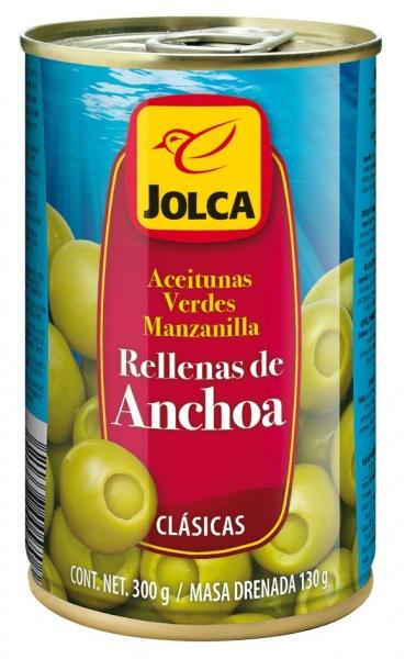Jolca Oliwki zielone z anchois 300 g