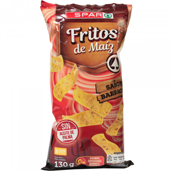Spar chipsy kukurydziane o smaku sosu barbecue