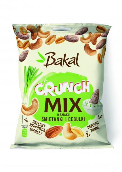 Orzechy bakal crunch mix o smaku śmietanki i cebulki