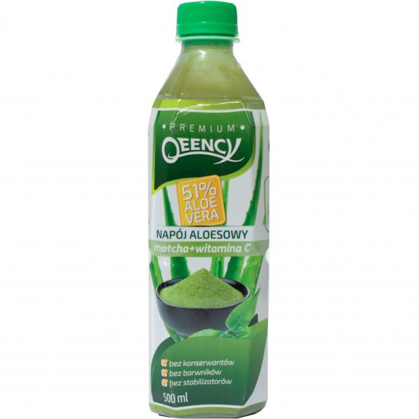 Napój qeency aloesowy aloe vera 51% z matchą cytrynową