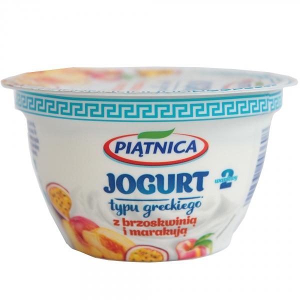 Jogurt Piątnica typu greckiego z brzoskwinią i marakują