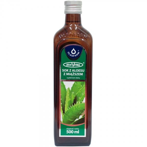 Sok z Aloesu z miąższem 100% Oleofarm