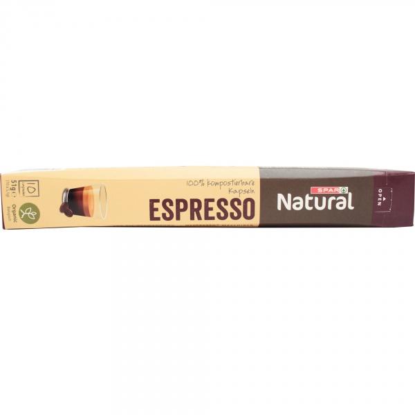 Spar natural kawa espresso organiczna kapsułki