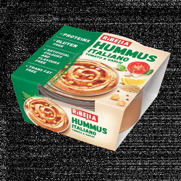 Hummus Ribella Italiano z pomidorami i czosnkiem