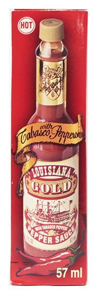 Sos chilli lousiana gold czerwony 57ml casa fiesta