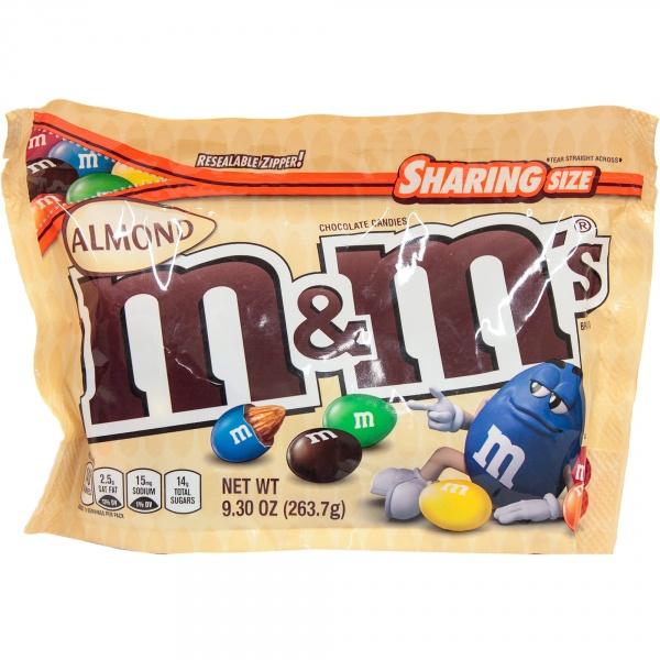 Draże m&m's z migdałami oblane czekoladą