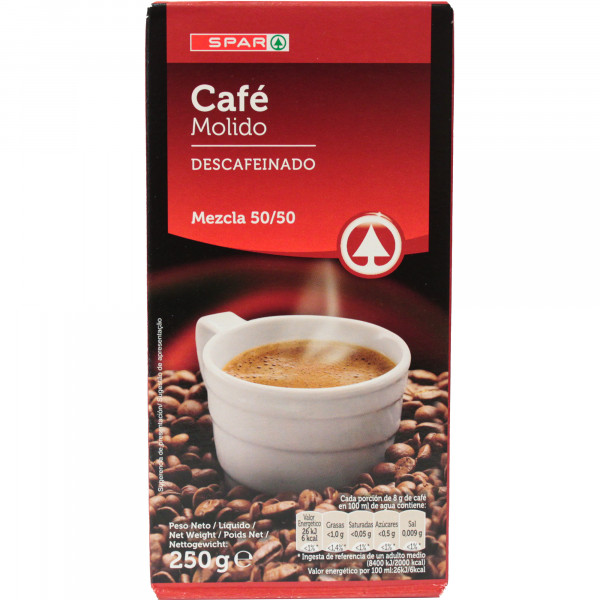 Spar kawa mielona bezkofeinowa mieszanka palona