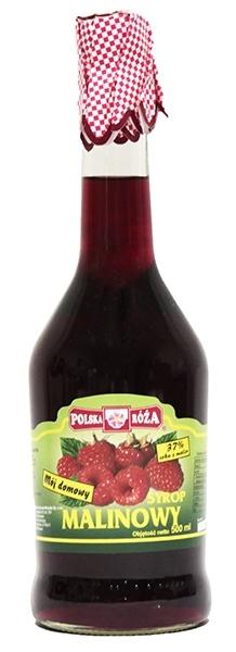 Syrop polska róża malinowy