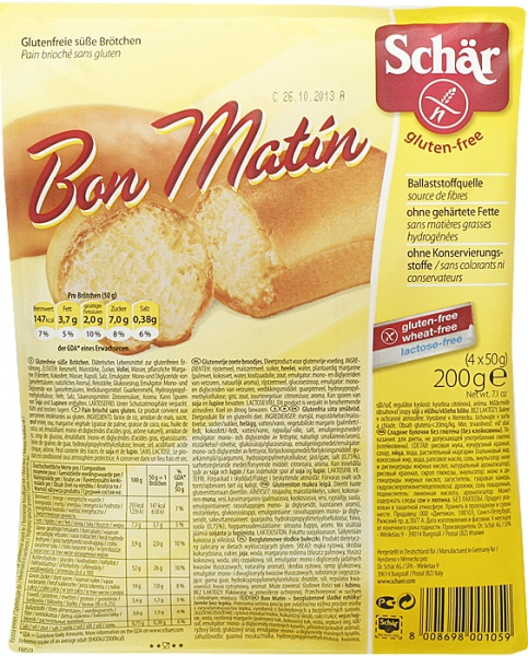 Bułeczki Schär Bon Matin bezglutenowe słodkie