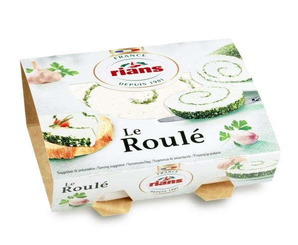 Rians Le Roulé Ser świeży ze spiralą z czosnku i ziół 150 g