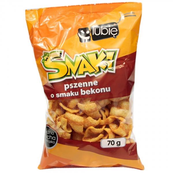 Snaki pszenne o smaku bekonowym Lubię:)