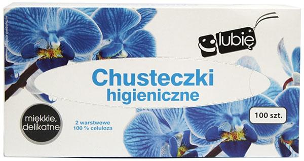 Chusteczki higieniczne 2w Lubię:) box