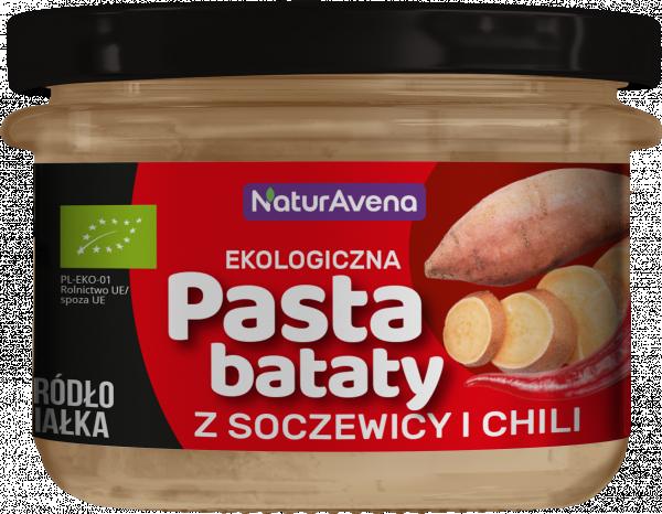 Pasta bataty z soczewicą i chili bio