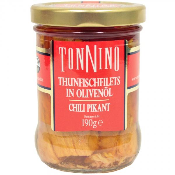 Filety z tuńczyka w pikantnym chilli