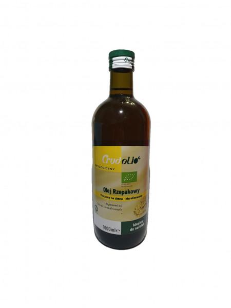 Olej rzepakowy tłoczony na zimno bio