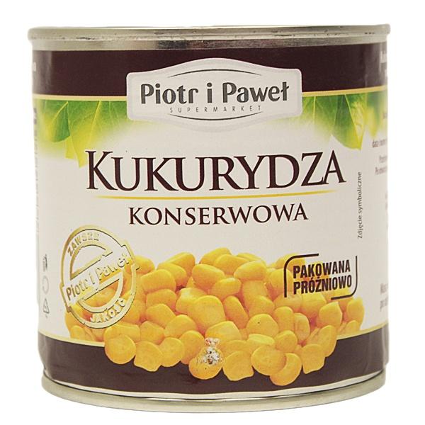 Kukurydza konserwowa Piotr i Paweł
