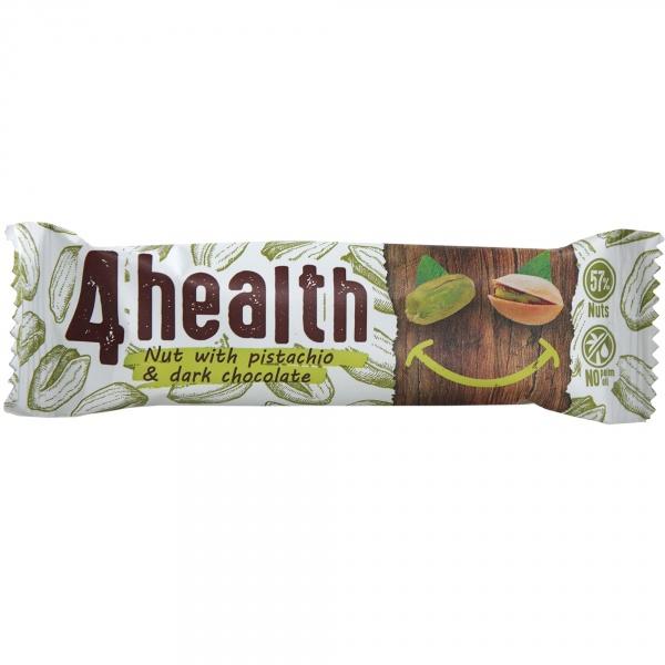 Baton orzech z pistacją i gorzką czekoladą
