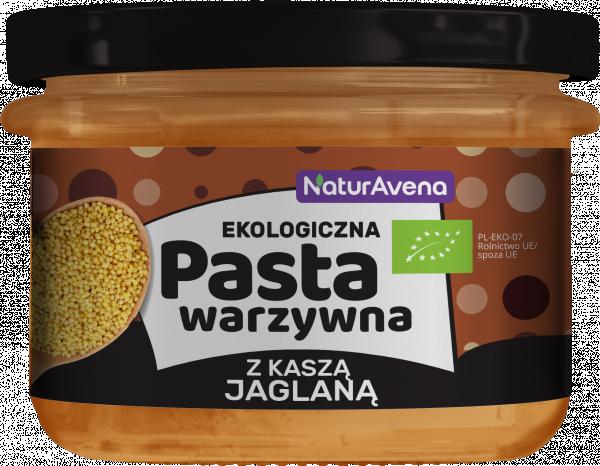 Ekologiczna pasta warzywna z kaszą jaglaną