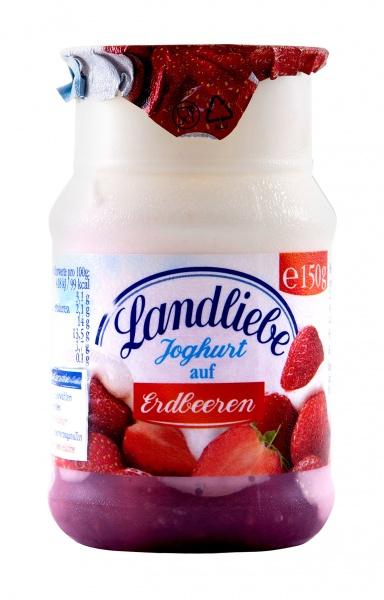 Jogurt z owocami truskawka lub wiśnia