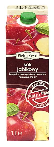 Sok jabłkowy bezpośredni Piotr i Paweł