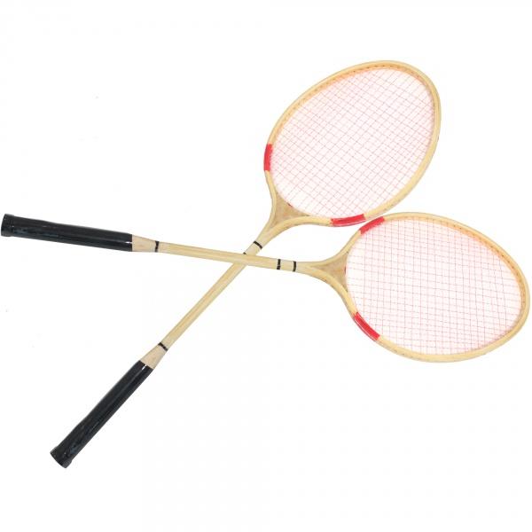 Badminton 66cm drewniany z lotką