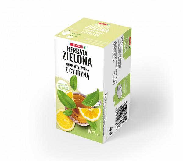 Spar herbata zielona z cytryną 20 torebek x 1,5g