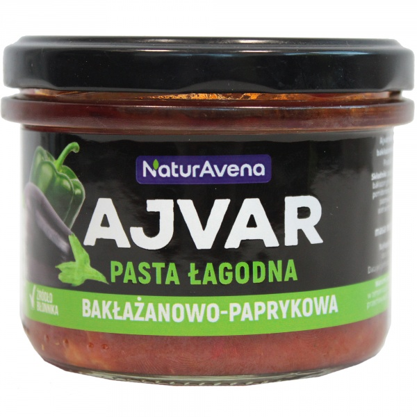 Ajvar pasta paprykowo bakłażanowa łagodna