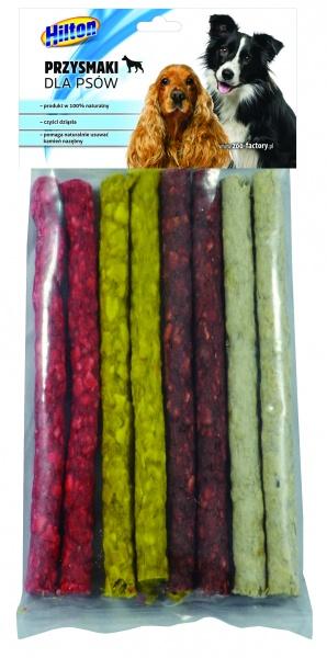 Pałeczki cienkie mix 125x9cm dla psa