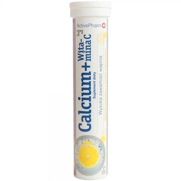 Tabletki musujące calcium 300mg z witaminą c 80mg