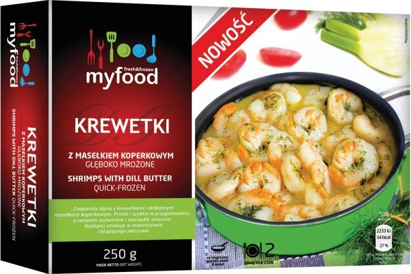 Krewetki z masłem koperkowym Myfood